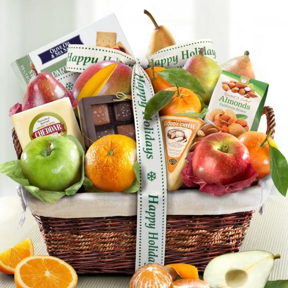 Happy Holidays Classic Deluxe Fruit Basket - CFA4101H_19