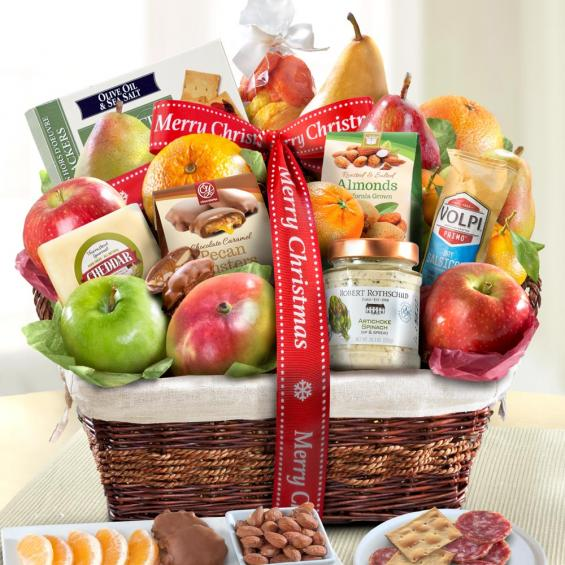 Merry Christmas Abundance Fruit Basket - CFHAA4102X_19