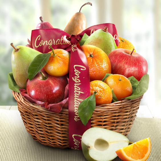 Congratulations Fruit Favorites Gift Basket - CFG4103C