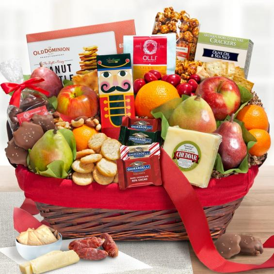 Holiday Treasures Deluxe Fruit and Gourmet Basket - CAA5005_19