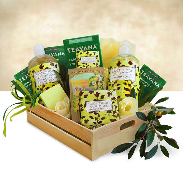 Cucumber Spa Gift Basket - CFCD5680_20N