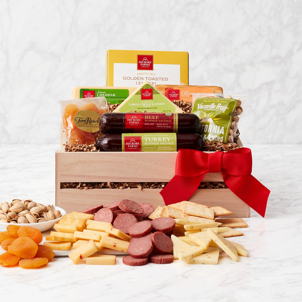 Wooden Crate of Meat and Cheese - CFCD7269_21A