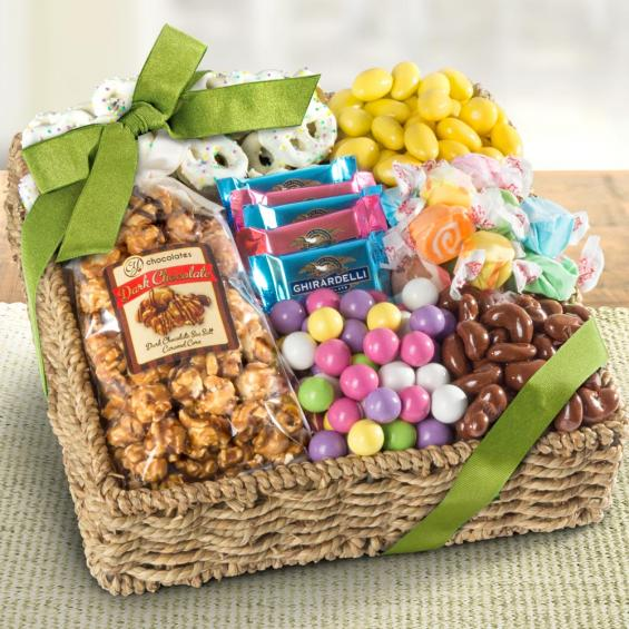 Spring Chocolate, Sweets, and Treats Gift Basket - CFG4055M