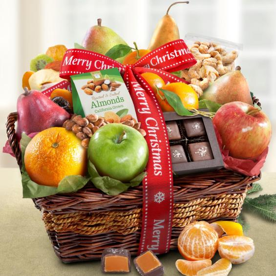 Merry Christmas Orchard Delight Fruit & Gourmet Basket - CFA4094X_18