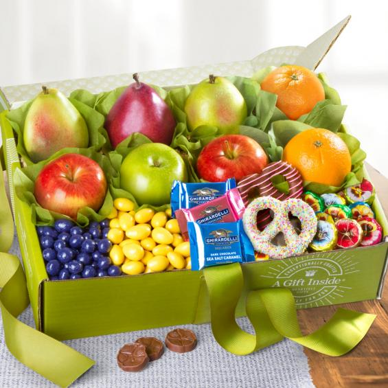 Spring Bouquet of Fruits and Sweets Deluxe Gift Box - CFG2026