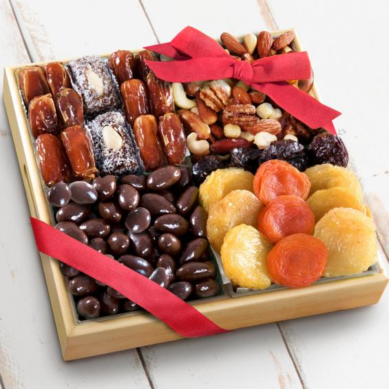 Santa Cruz Dried Fruits with Savory & Chocolate Nuts Crate - CFG8007_18