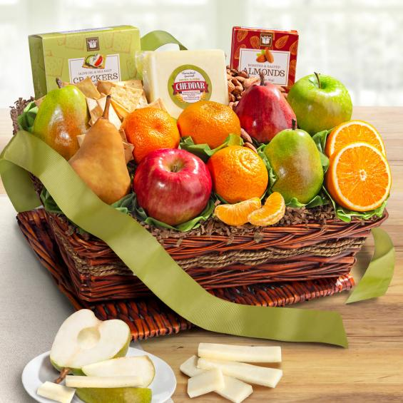 Classic Fruit and Cheese Basket - CFG8019_20N