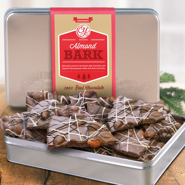 Milk Chocolate Almond Bark Tin - CFG4120L_18