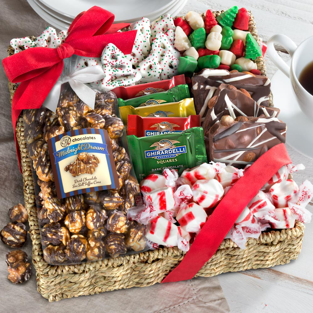 Holiday Classic Chocolate, Candy & Crunch Gift Basket - CFH002_19