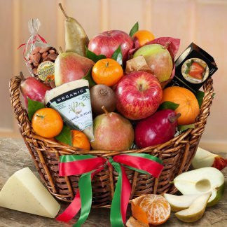 Artisanal Cheese & Fruit Gift Basket