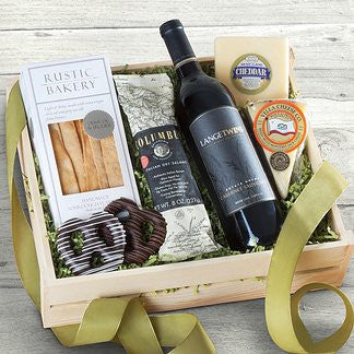 Gourmet Wine Meat and Cheese Crate
