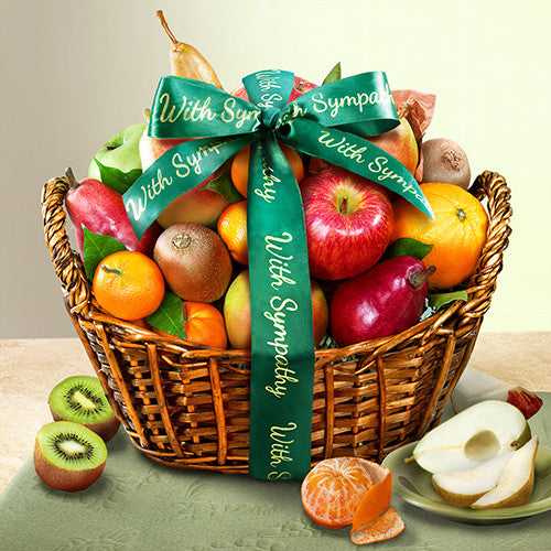 With Sympathy Fruit Basket - CFG4000S