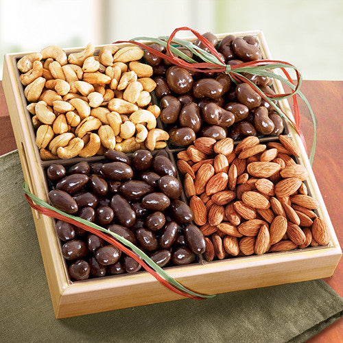 Savory and Sweet Chocolate Nuts Gift Tray - CFG8013