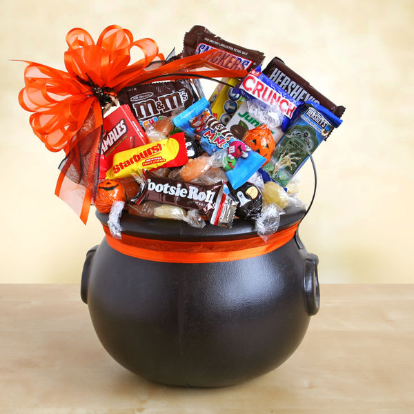Spooky Cauldron of Halloween Goodies - CFCD7409