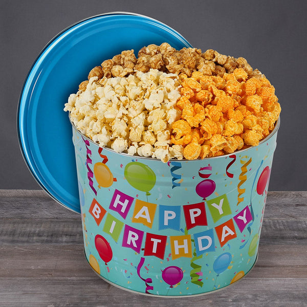 2 Gallon Happy Birthday Popcorn Tin - CFGGB7001AT_21A