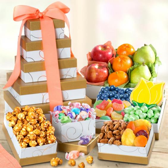 Springtime Treats and Fresh Fruit Tower - CFG0245