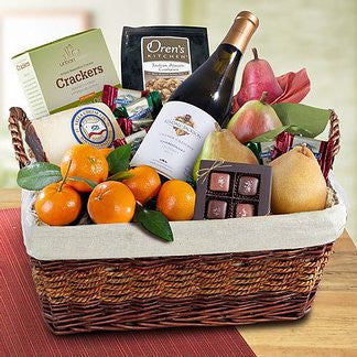 California Cabernet Sauvignon & Fruit Gift Basket - CWA4015
