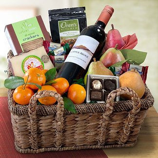 California Cabernet Sauvignon & Fruit Gift Basket