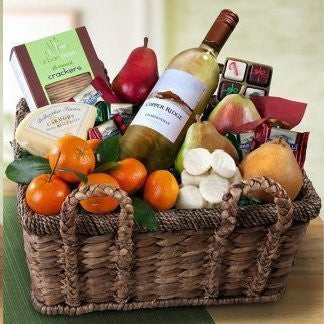 California Chardonnay, Fruit & Cheese Basket