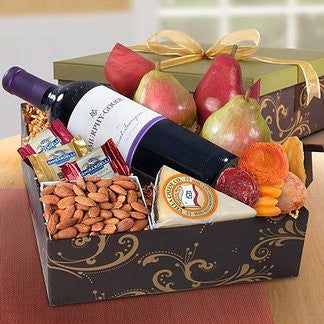Celebration Wine and Fruit Gift Box