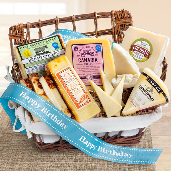 Birthday Basket full of Gourmet Cheese - CFG5030B