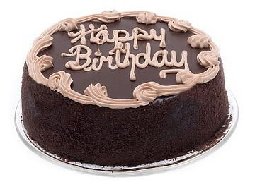 "7"" Chocolate Fudge Birthday Cake - CFD196"