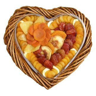 A BEAUTIFUL DRIED FRUIT HEART BASKET 50 OZ - CFV70010