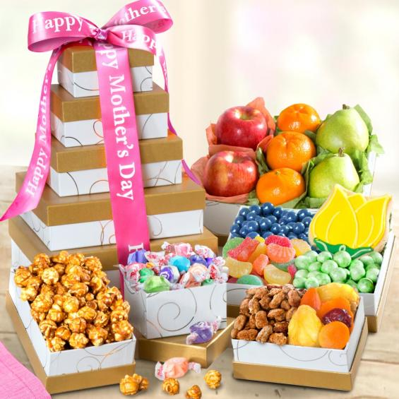 Fresh Fruit and Gourmet Treats Gift Tower for Mom - CFG0245M