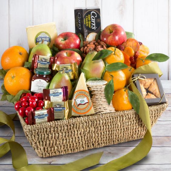 Gourmet Artisan Cheese and Fruit Gift - CFH4016