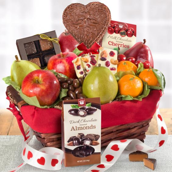 Valentine's Day Fruit and chocolate Basket - CFG5025V
