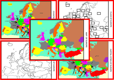 Montessori Europe Geography Maps