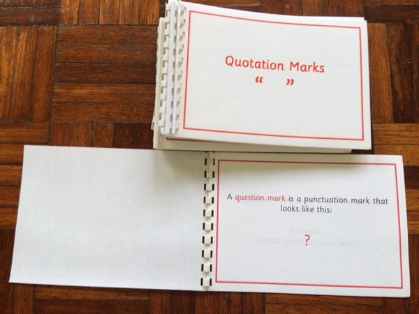 Montessori Punctuation Booklets