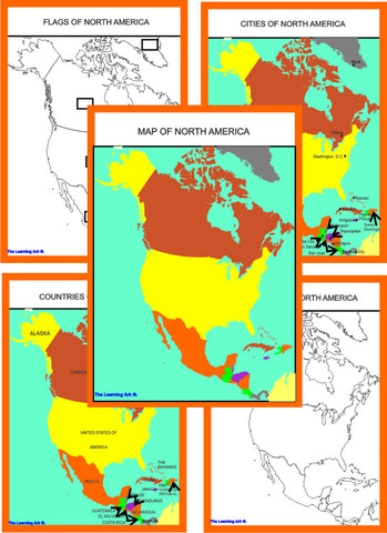 Montessori North America Geography Maps