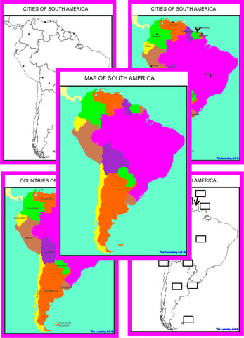 Montessori South America Geography Maps