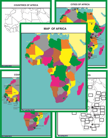 Montessori Africa Geography Maps