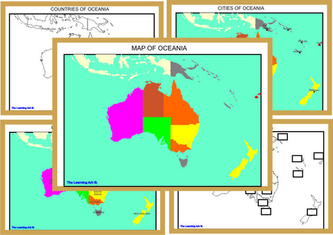 Montessori Oceania Geography Maps