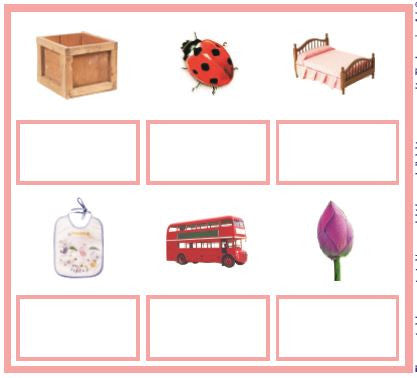 Montessori Pink Series 4 Matching Cards