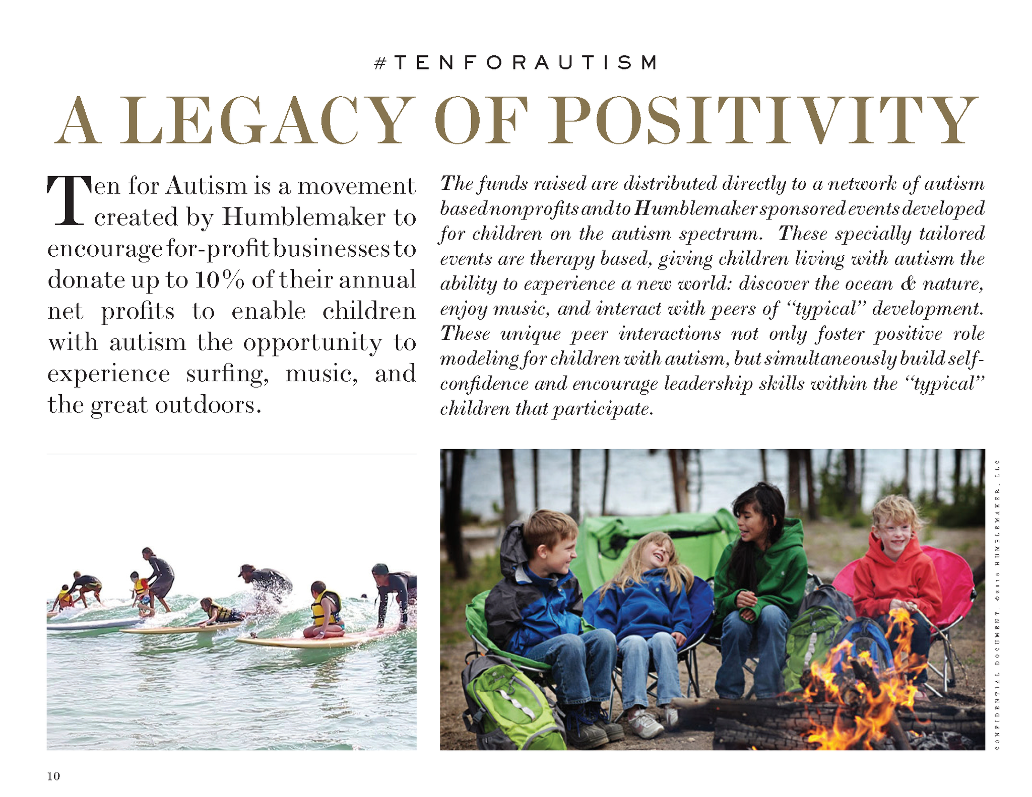 #tenforautism A Legacy of Positivity