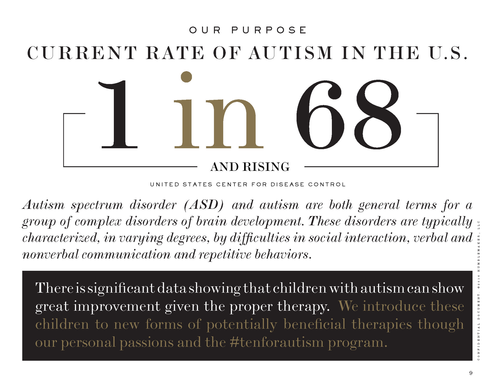 #tenforautism Current Rate of Autism in the USA 1 in 68