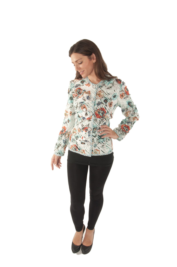 Floral Silk Slash Jacket