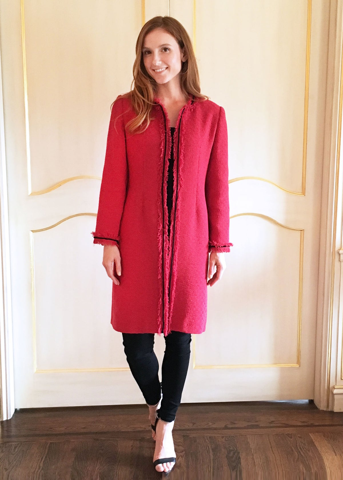 Red Tweed Coat