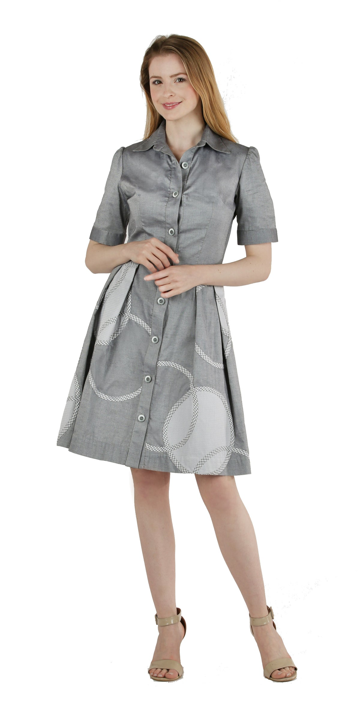 Button Front Shirt Waist Dress