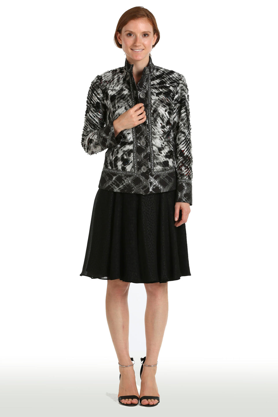 Silk Abstract Reversible Jacket