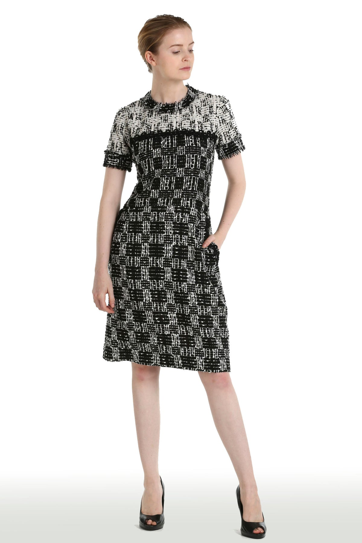 Tweed Black & White Dress