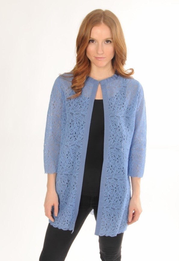 Lace Jacket in Sky Blue