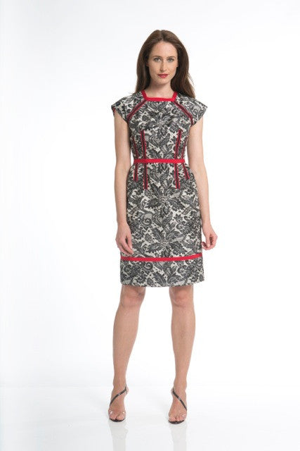 Silk Printed Lace Dress