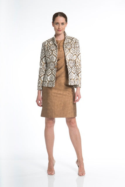 Filigree Pressed Velvet Jacket