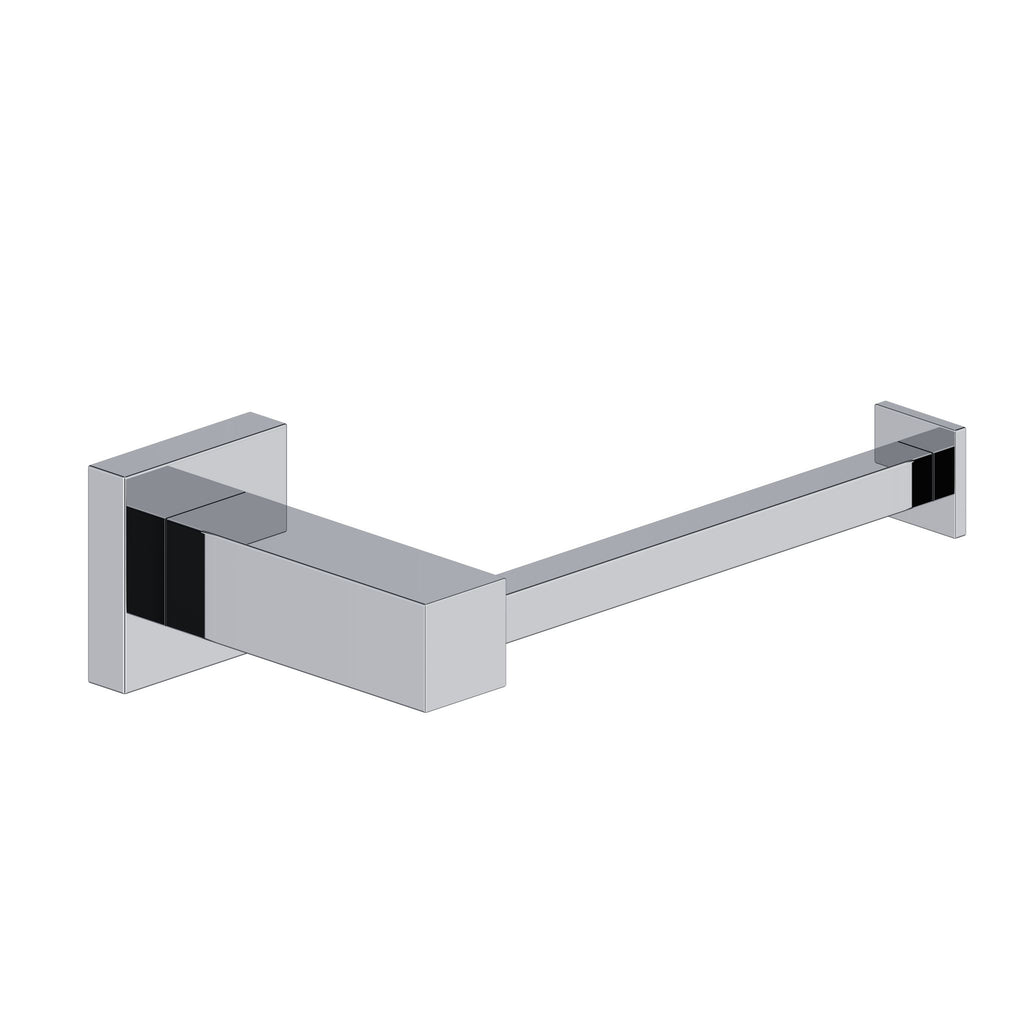 Square Chrome Toilet Roll Holder - Bathroom Clearance