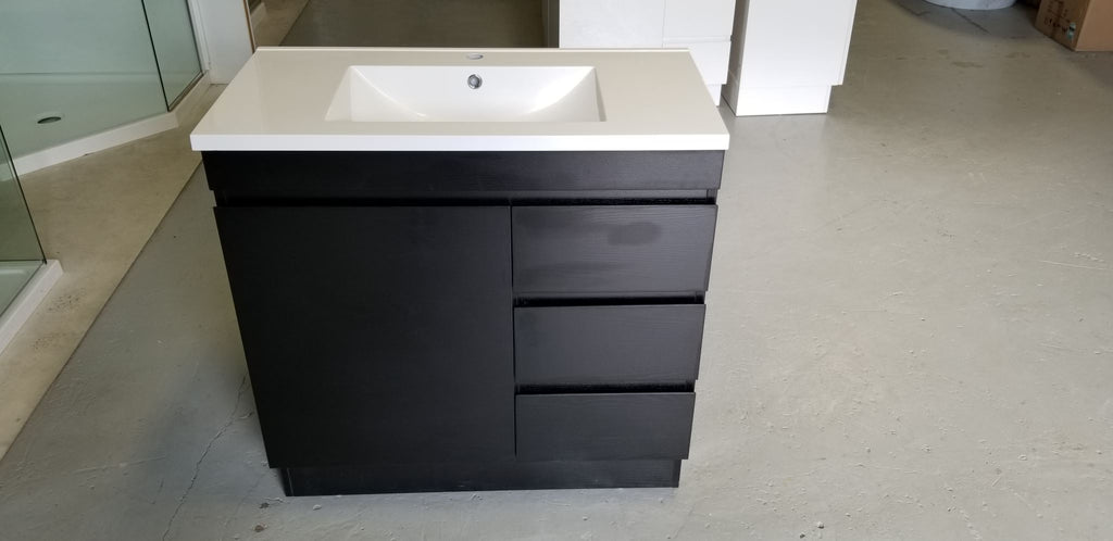 PLYWOOD 750 VANITY FLOOR STANDING WITH CERAMIC TOP - Bathroom Clearance