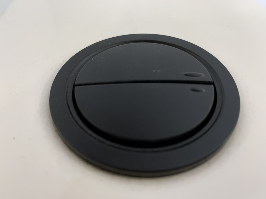 38mm Dual Flush Toilet Tank Round Valve Push Button BLACK - Bathroom Clearance